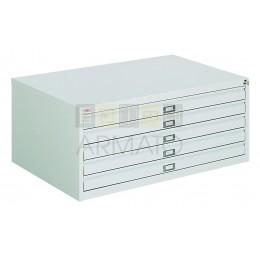 Металлический шкаф для хранения карт и чертежей ЧМ 42/97/67