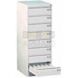 Картотечный металлический шкаф КМП 128/47/63