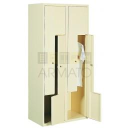 Шкаф одежный металлический ЛОК L42